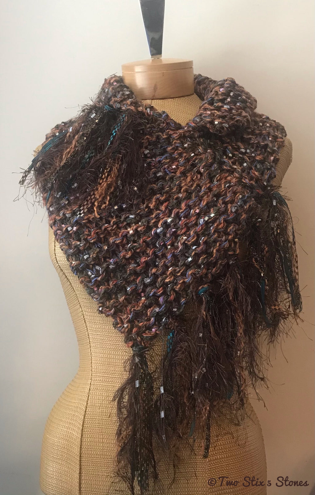 Luxe Brown Tweed Shawlette