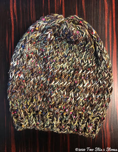 Luxe Chocolate Tweed Slouchy Hat