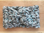 Grey Tweed Knit Turban Headband