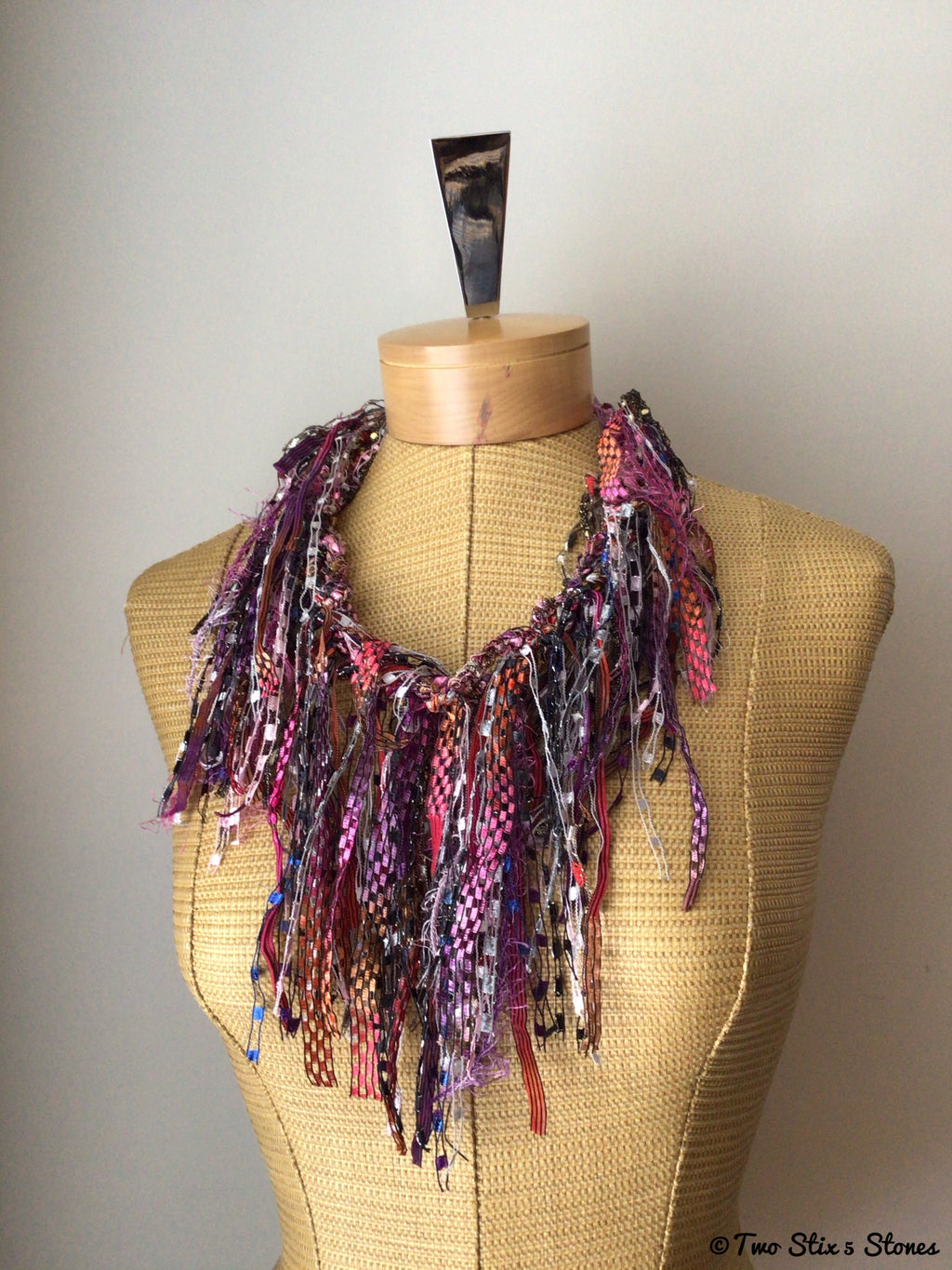 Colorful Exotic Fiber Necklace
