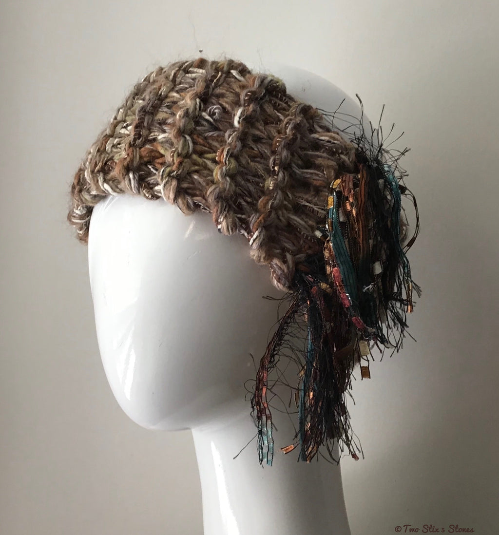 Brown Tweed *Funky Chic* Headband
