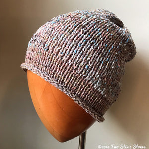 (Age 2-5) Lightweight Oatmeal Tweed Slouchy Hat