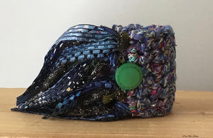 Blue Tweed Cuff/Bracelet