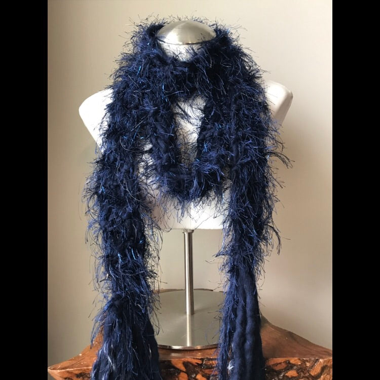 Luxurious Navy Blue Scarf, (LS03)