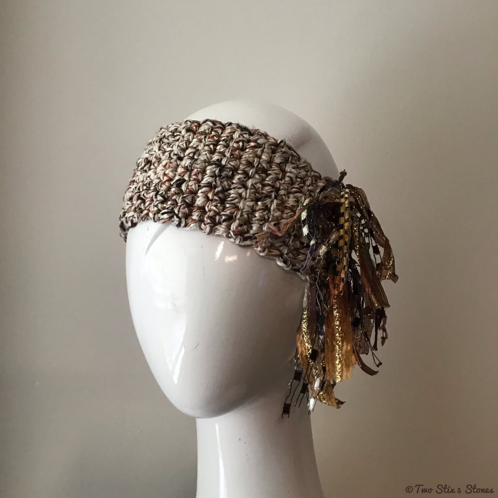 Luxe Oatmeal & Tan Tweed *Funky Chic* Headband