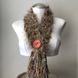 Tan Tweed *Diva Chic* Scarf, (DS08)