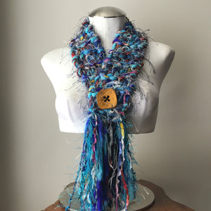 Blue Tweed *Diva Chic* Scarf, (DS01)