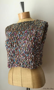 Multi-Tweed Handknit Slipover