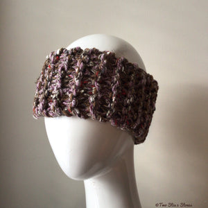 Brown Tweed Knit Headband