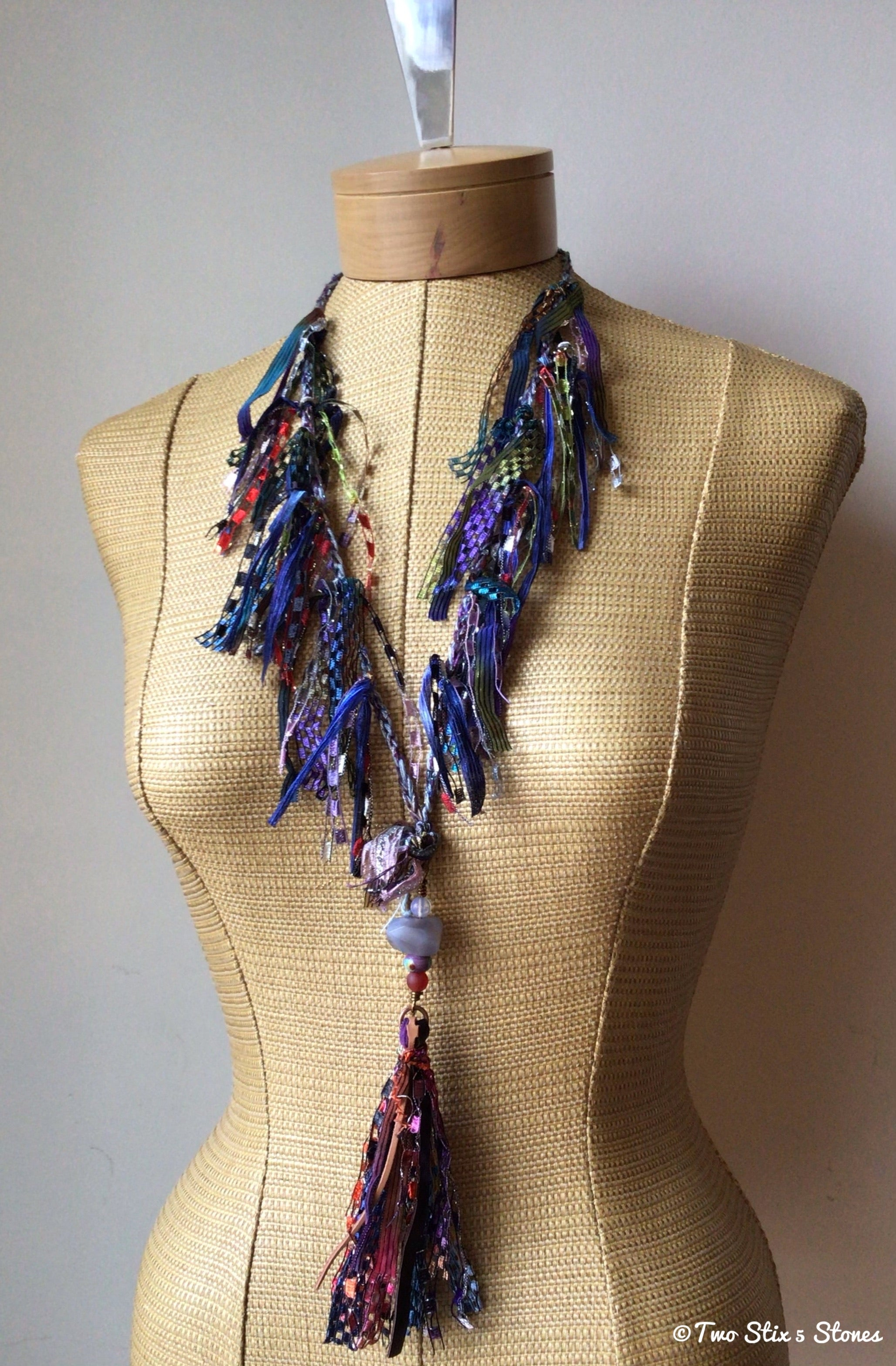 *Two Stix* Luxe Signature *Fiber Necklace*