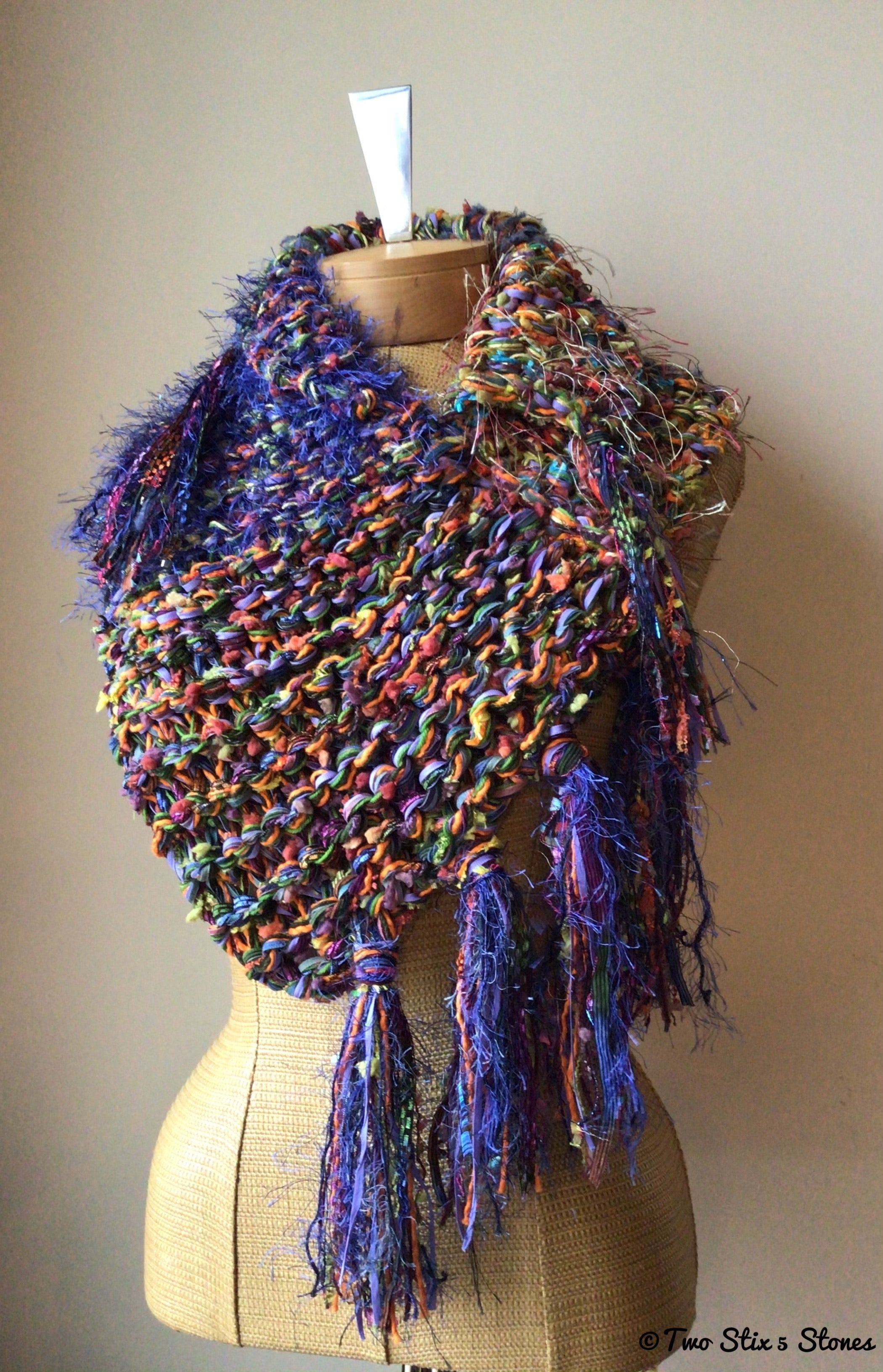 Luxe Vibrant Knit Shawl