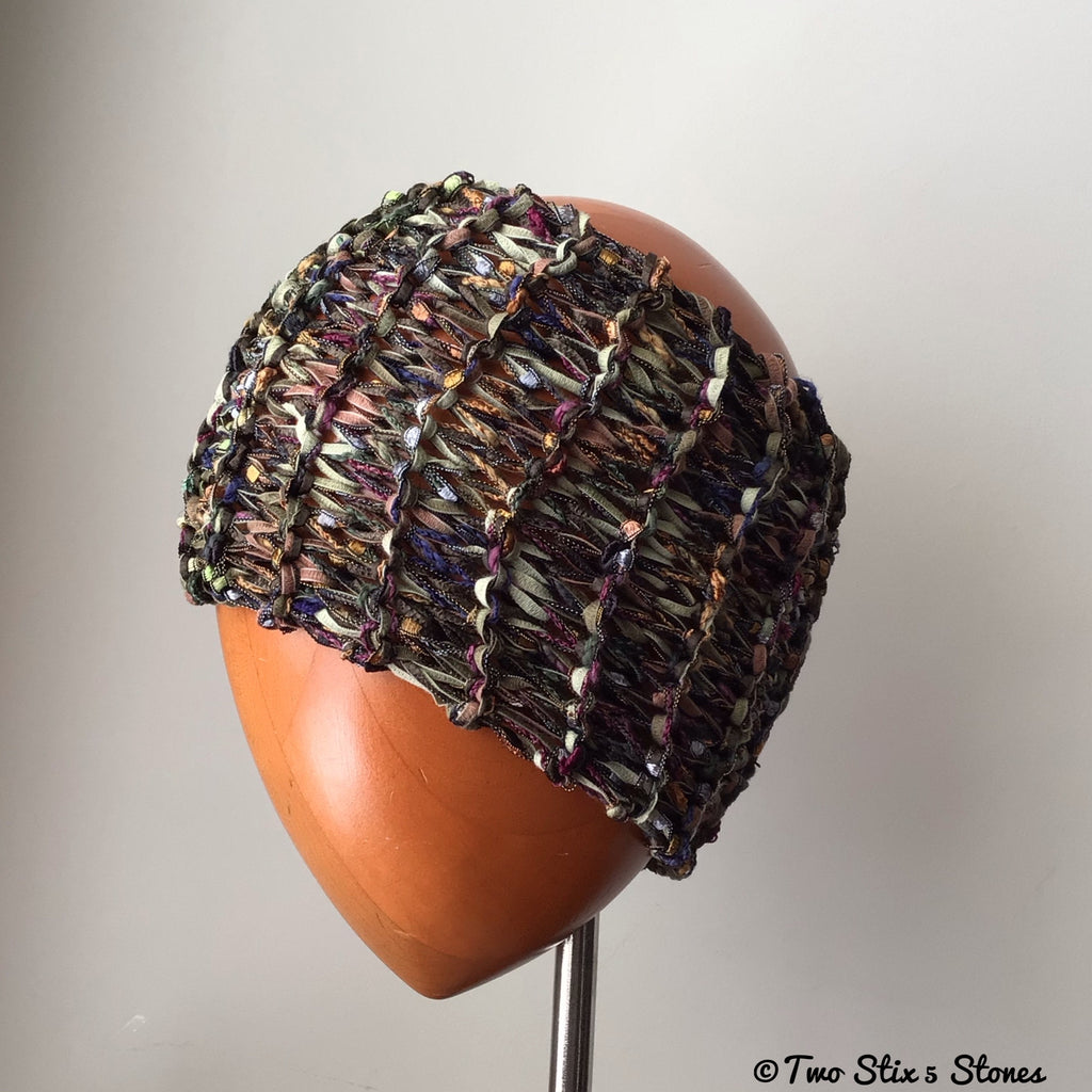 Chocolate Tweed Knit Headband