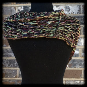 Military Green Chic Hand Knit Shawl