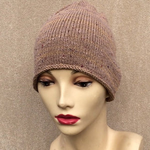 Tan Tweed Beanie