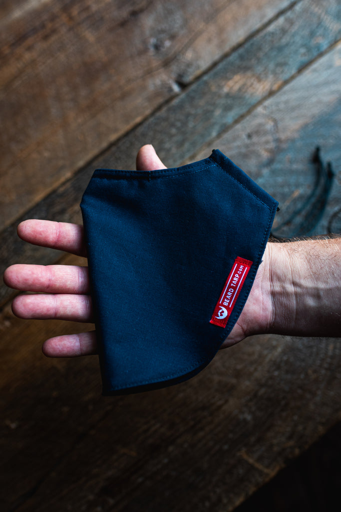 Beard Tarp™ Solid Navy