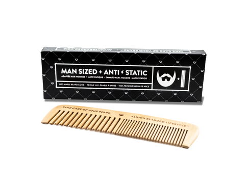 Anti-Static Maple Beard Comb