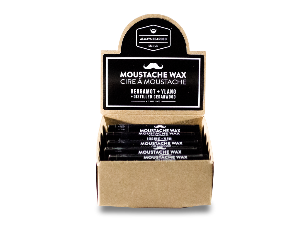 Moustache Wax: Bergamot + Ylang with Distilled Cedarwood