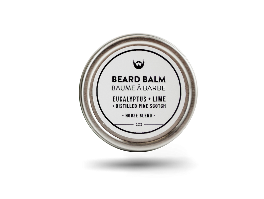 Beard Balm: Eucalyptus + Lime with Distilled Pine Scotch Needle