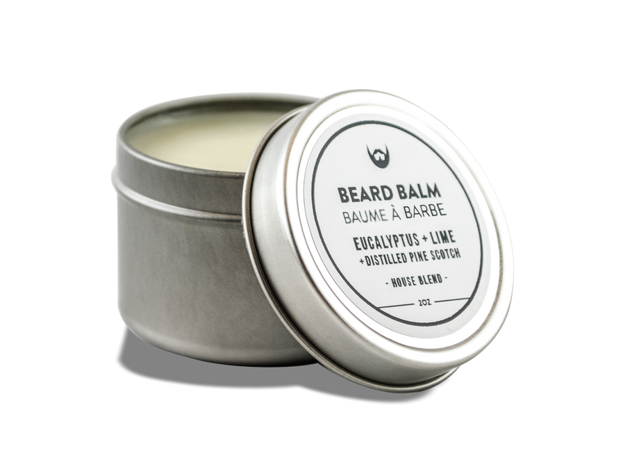 Beard Balm: Eucalyptus + Lime with Distilled Pine Scotch Needle - Always Bearded Lifestyle