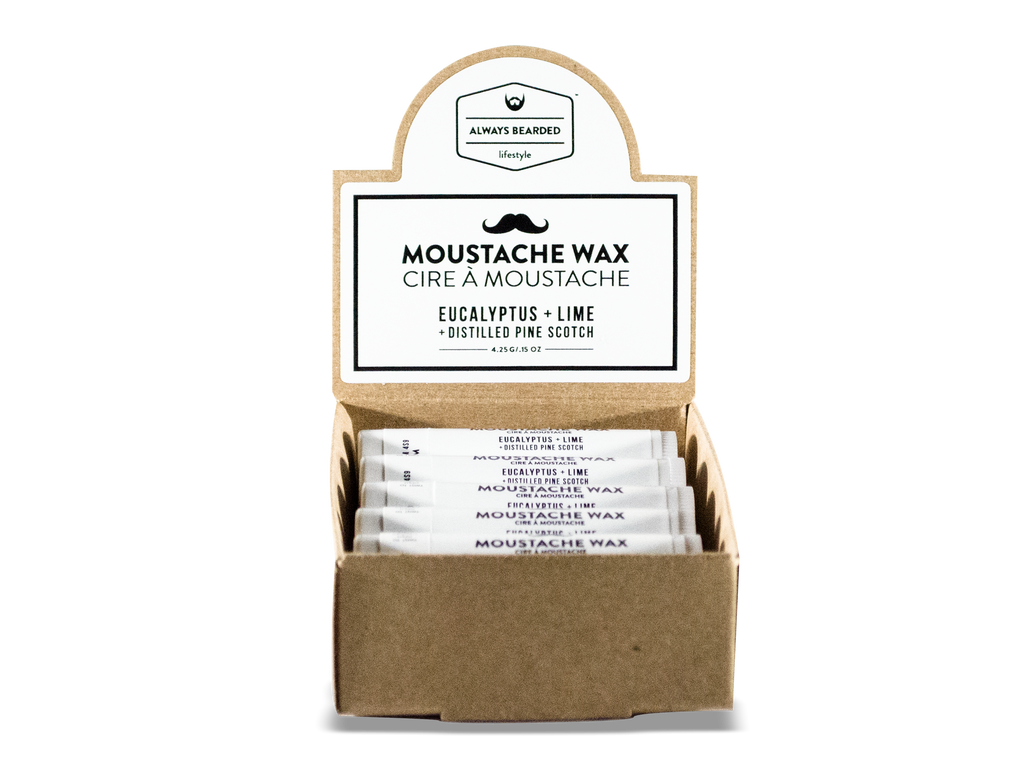 Moustache Wax: Eucalyptus & Lime with Distilled Pine Scotch