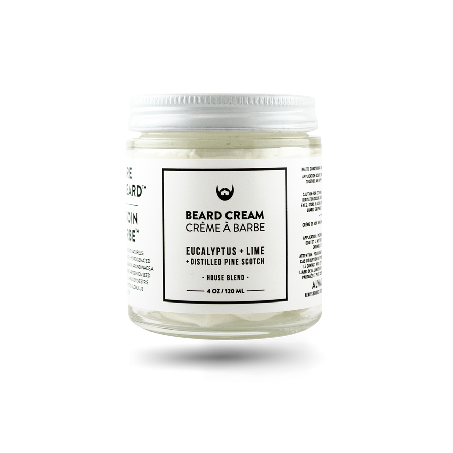 Beard Cream: Eucalyptus + Lime with Distilled Pine Scotch Needle - Always Bearded Lifestyle