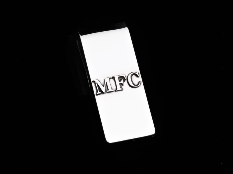 High Polished Initials Money Clip