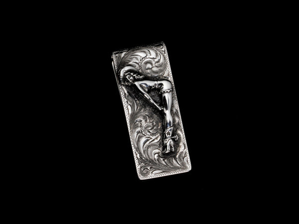 Brady Money Clip, With or Without 14k Gold Initials - Comstock Heritage, Inc.