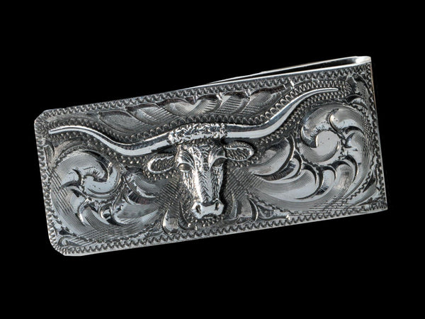 Longhorn Money Clip, Two Colors