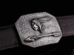 "Charlie Pontiac H-Belt Buckles-Comstock Heritage, Inc.-1.5""-Choose A Belt-+2 to pant size-Comstock Heritage, Inc."