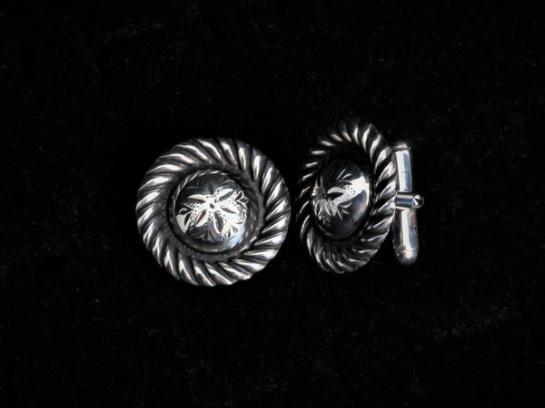 Vintage Small Concho Cuff Links