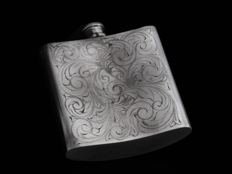Carved Longhorn Flask - Comstock Heritage, Inc.