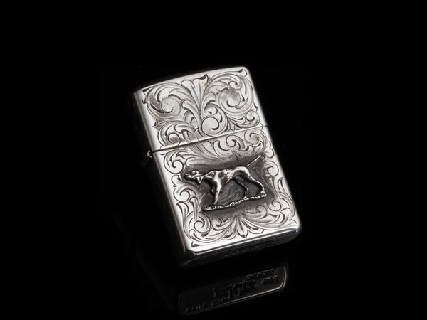 Hunting Dog Zippo Lighter