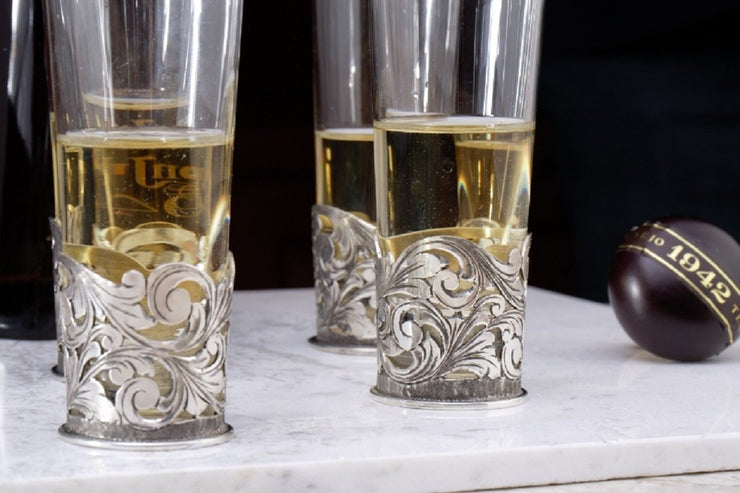 Sterling Silver filigree shot glass