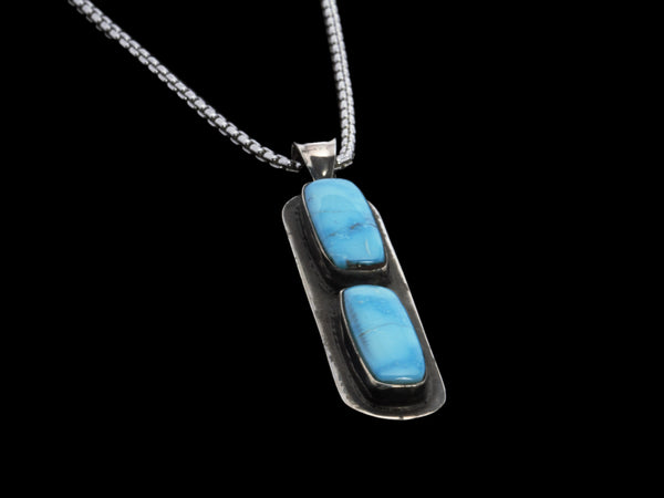Sterling Silver & Turquoise Pendant - Comstock Heritage, Inc.