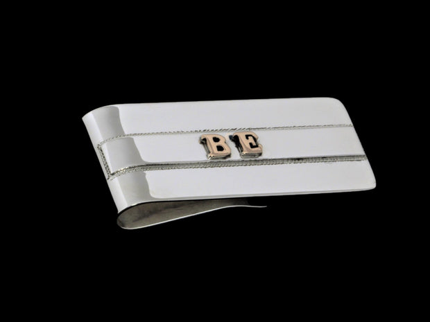 The Understated Initial Money Clip