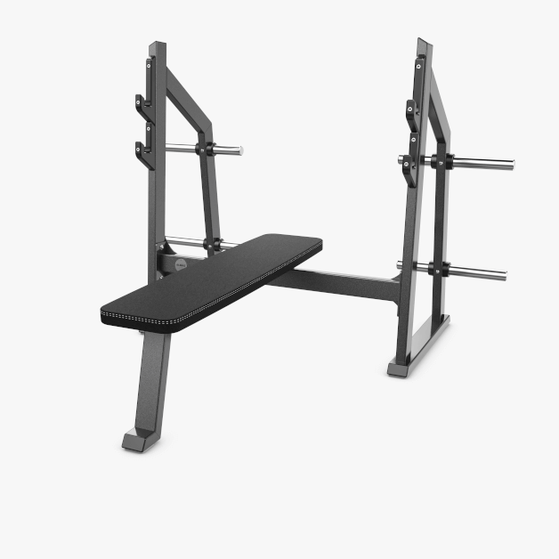 Eleiko Classic Olympic Flat Bench - Charcoal/Black