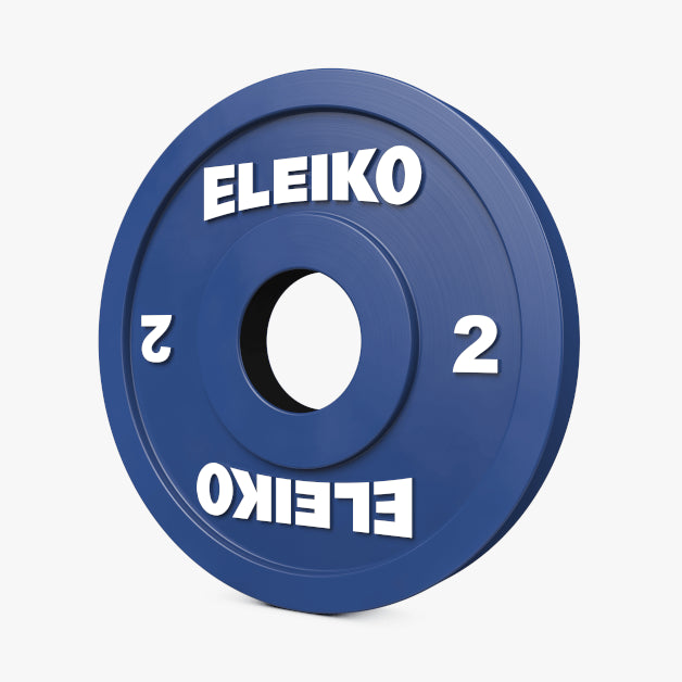 ELEIKO IWF WEIGHTLIFTING RUBBER COATED COMPETITION DISCS