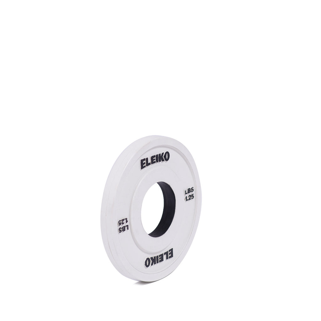 DEMO - ELEIKO OLYMPIC WEIGHTLIFTING TRAINING DISC, RUBBER COATED CHANGE POUNDS
