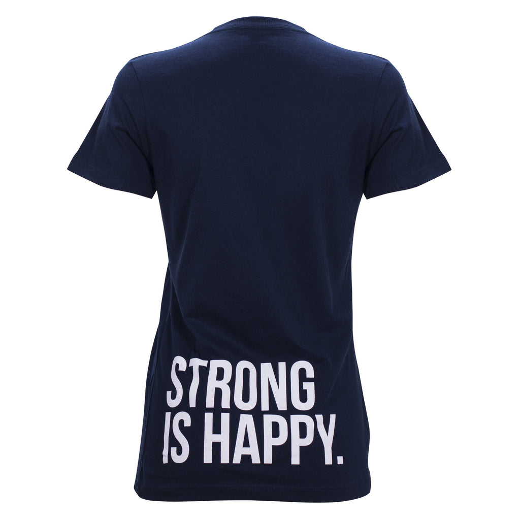 "Eleiko ""Strong is Happy - LowerBack"" T-Shirt, WOMENS"
