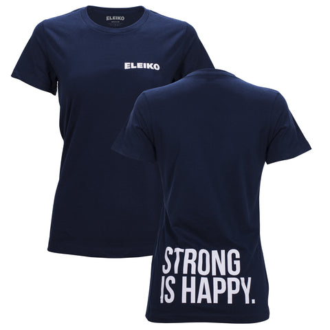 "Eleiko ""Strong is Happy - LowerBack"" T-Shirt, women's"