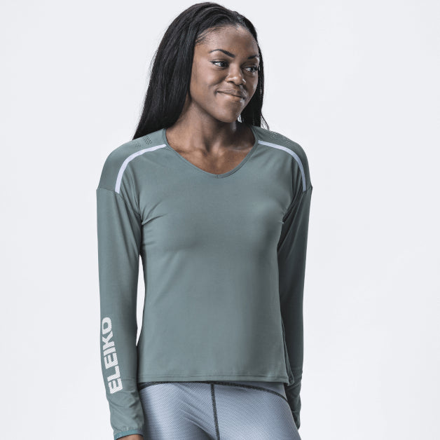 Grip T-Shirt LS Women <br>Mist Green