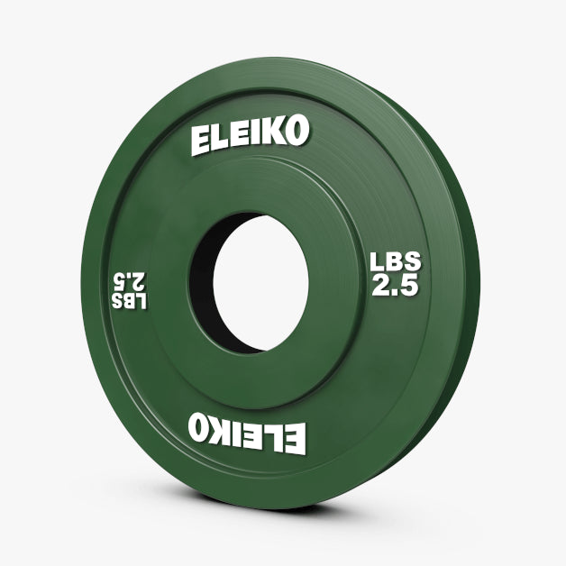 ELEIKO OLYMPIC WEIGHTLIFTING TRAINING DISC - RUBBER COATED - LBS