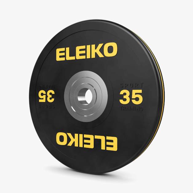 ELEIKO SPORT TRAINING DISCS, BLACK - LBS