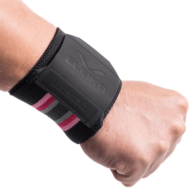 Eleiko Wrist Wraps <br/>Weightlifting Solar Pink