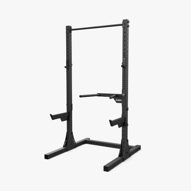 XF 80 Half Rack with Pull-Up, J-Cups, Safety Arms, Dips - BLACK