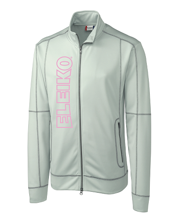 CLOSEOUT Eleiko Zip-Up Jacket, grey/pink
