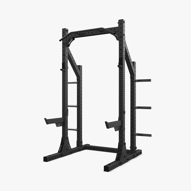 XF 80 Half Rack Hybrid With Safety Arms - Black