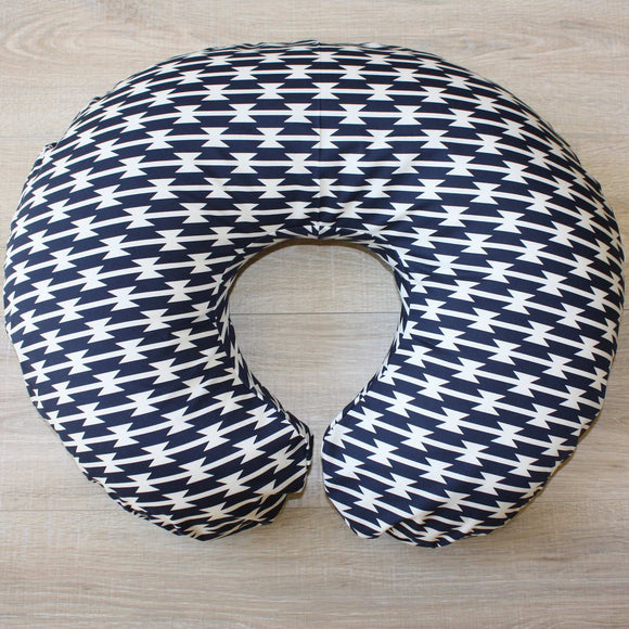 Nursing Pillow Cover - Navy and White Stripes