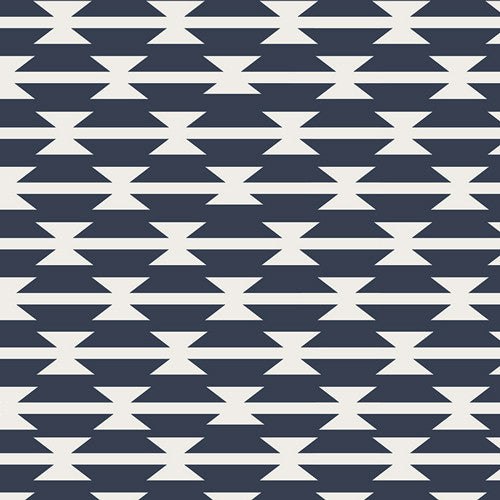 Changing Pad Cover - Navy and White Stripes