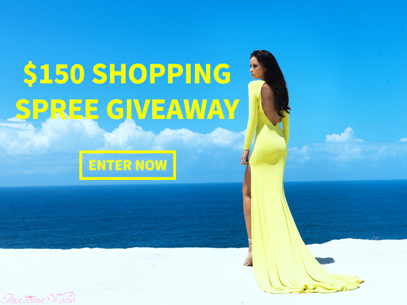 $150 shopping spree giveaway